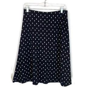 Ann Taylor Factory A Line Skirt Black/White Sz 2